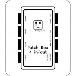 Patch box 4 IN/OUT per pedaliera - prese laterali