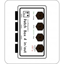 Patch box 4 IN/OUT per pedaliera - prese lato e sopra